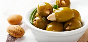 Almond-Stuffed Green Olives